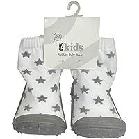 ES Kids Rubber Soled Socks - Grey Star 18-24mths, Grey