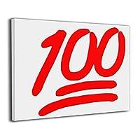 HXH-artframe 100 満点 絵文字 絵 絵画 アート パネル インテリア 壁掛け ポスター キャンバス フレーム セット ART 雑貨 飾り グッズ 完成品 プレゼント アニメ 動画 可愛い オシャレ 風景 モダン 現代