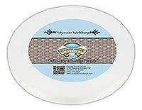 国Brook Designâ 3/ 4インチ印刷可能熱設定ランヤードポリエステル帯ひも 20 Yards ホワイト WPELP-WHI-3.4-20