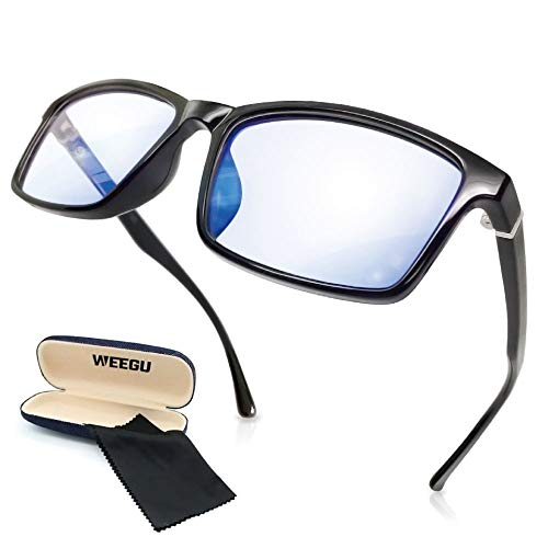 WEEGU ブルーライトカット メガネ pc メガネ ブルーライト メガネ ウェリントンタイプ ファッション