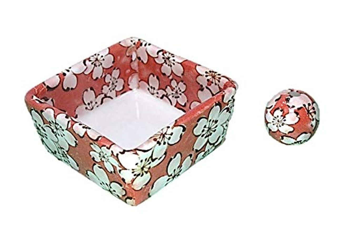 もろい衝撃バナー和モダン 都踊 お香立て 陶器 角鉢 製造直売品