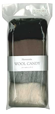 ハマナカ ウールキャンディ 4色セット ダークグレイッシュ H441-120-5