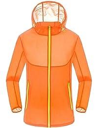 chenshiba-JP メンズ夏の太陽保護ジャケット軽量屋外フードジャケット