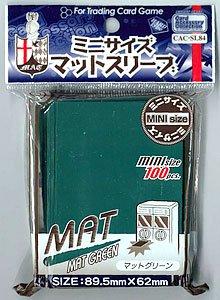 カードアクセサリーコレクション マットスリーブ ミニサイズ マットグリーン パック