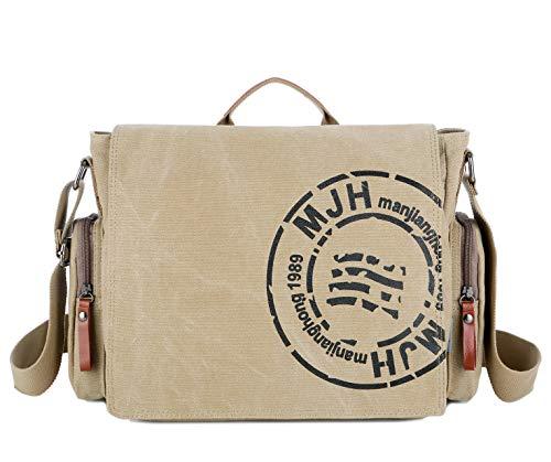 RAKEE ショルダーバッグ トート メンズ メッセンジャーバッグ 帆布 肩掛け斜めがけ 防水 バッグ a4サイズ 大容量 丈夫 4色