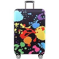 Youth Union スーツケースカバー 伸縮素材 欧米風 キャリーバッグ お荷物カバー (S(18-21 inch luggage), 水彩画)
