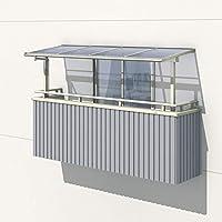 三協アルミ レボリューA 1.0間×3尺 600タイプ/関東間/2階用F型/出幅移動収まり/単体 ポリカーボネート 『テラス屋根』 ダークブロンズ