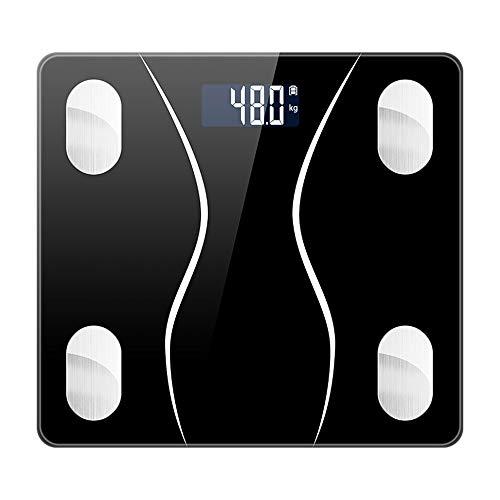 体重計 体組成計 体脂肪計 Bluetooth LCDデジタル表示 強化ガラス 高精度センサー スマートスケール 体重/体脂肪率/BMI/BMR/体内水分/骨量/骨格筋など測定 健康管理 最大180KGまで測り Kungix