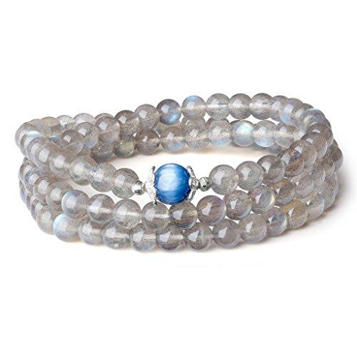 [해외](아모르 윙) AmorWing 조회 장석이야 나이토 心願 성취 수호 파워 스톤 팔찌 여성/(Amoruuingu) AmorWing Labradorite Kaya Knight Good heartfelt protection Guardian power stone bracelet Women`s