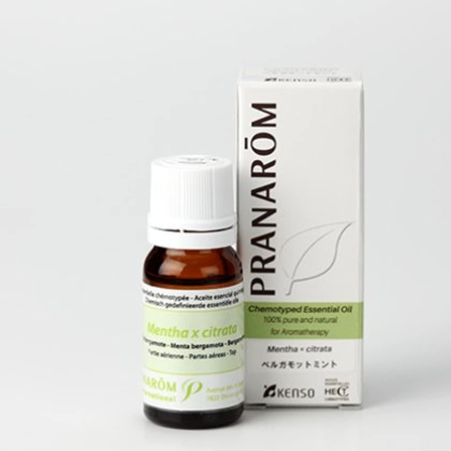 穀物染色懇願するベルガモットミント 10mlトップノート プラナロム社エッセンシャルオイル(精油)