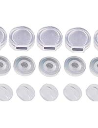 イヤリングカバー3種類セット/大きさ・形違いの シリコン カバー 3種類 多くのイヤリングに対応します/ 各12個×3種類・合計36個