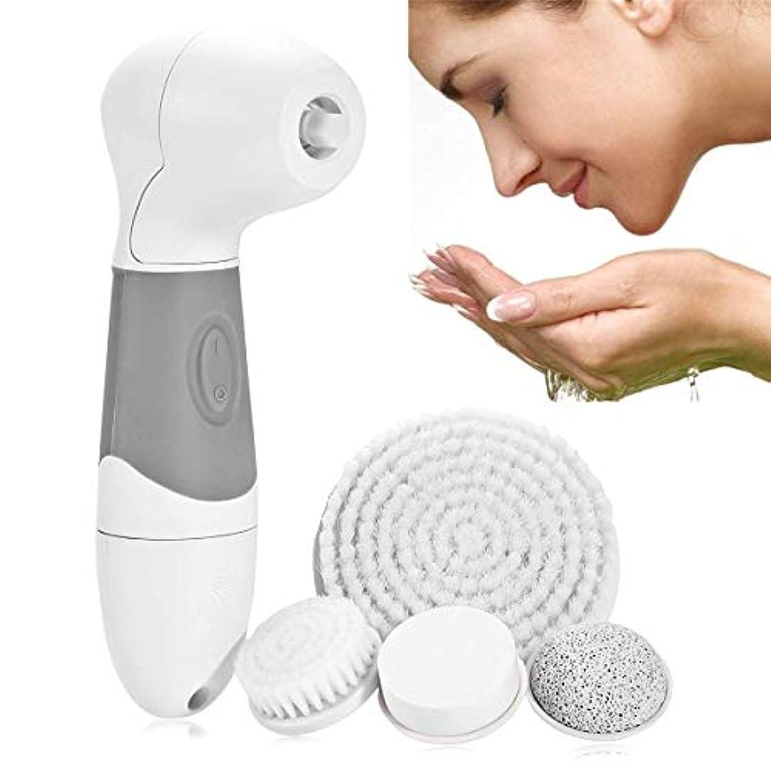 洗顔ブラシ、1 4に厚くて柔らかいブラシ防水アンチリンクルにきびにきび落とすにきびグリースメイク落としディープクリーンシュリンクポアは、肌の吸収を促進します。