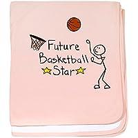 CafePress – 将来バスケットボールスター – スーパーソフトベビー毛布、新生児おくるみ ピンク 05783135576832E