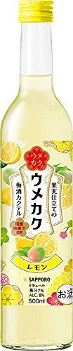 サッポロ ウメカク 果実仕立ての梅酒カクテル レモン 500ml
