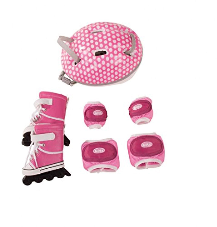Gotz DollサイズInline Skatesヘルメットandパッドfor 18