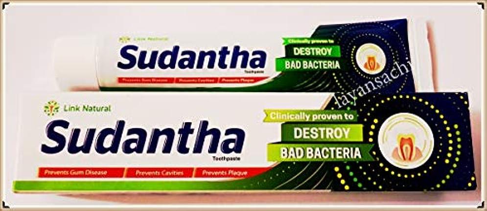 落ち着いて気候の山有効12 x 80 gリンクSudanthaホメオパシーHerbal Toothpaste for合計Oral保護