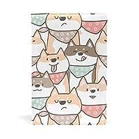 SoreSore(ソレソレ) ブックカバー a5 柴犬 かわいい いぬ アニマル 可愛い 皮革 レザー 文庫本 ノートカバー メモ 手帳カバー 革 A5 かわいい おしゃれ