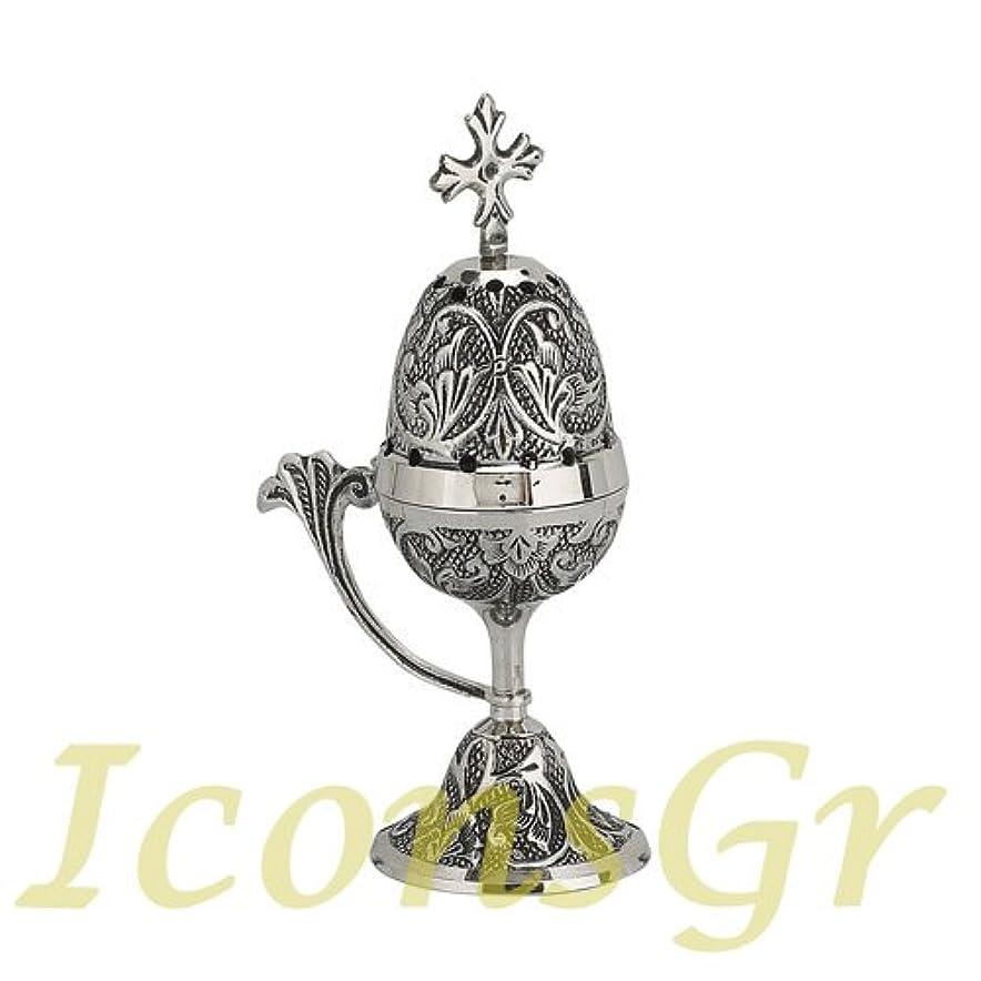 乗り出す信念エスカレーターChristian Byzantine Orthodox Greek香炉香炉Liturgy ( 8127-n )