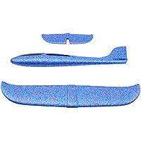 BEE&BLUE 手投げ グライダーモデル 模型 飛行機 航空機 軽量 慣性フォーム 回転飛行 発泡製 知育おもちゃ 組み立て飛行機 ゴム動力飛行機 誕生日 クリスマスプレゼント