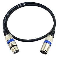 ケーブルとアダプタJSJ®3ピンXLRオス - メスバランスマイクオーディオケーブル(OD6.0mm 1m / 3FT)