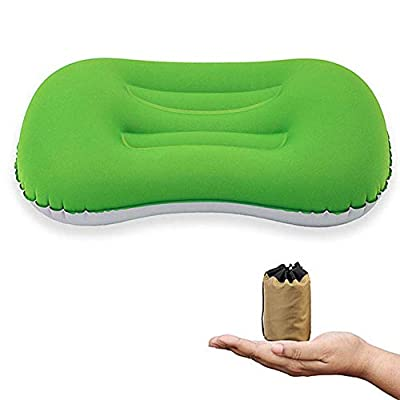 Zhuotop Outdoors Inflatable Pillow Compression Compact Comfortable Ergonomic Cushion for Neck Support Camping Tent Mat