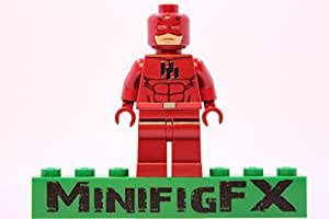 Lego Custom Printed Daredevil Minifig Marvel Super Hero Matt Murdock