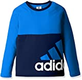 (アディダス)adidas トレーニングウェア ESS スーパービッグロゴ 長袖Tシャツ DJH85 [ボーイズ] DJH85 BR0868 ブルー J140