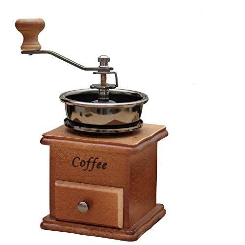 手挽きコーヒーミル コーヒー機 天然木製 粉粗さ調節可 クラシック 古典 復古式24ヶ月メーカー保証 コーヒーミル手動