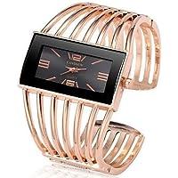 Women's Bracelet Watch Quartz Chronograph Creative New Design Alloy Band Analog Luxury Bangle Silver/Gold/Rose Gold - Gold/White Rose Gold/White Black/Rose Gold One Year Battery Life