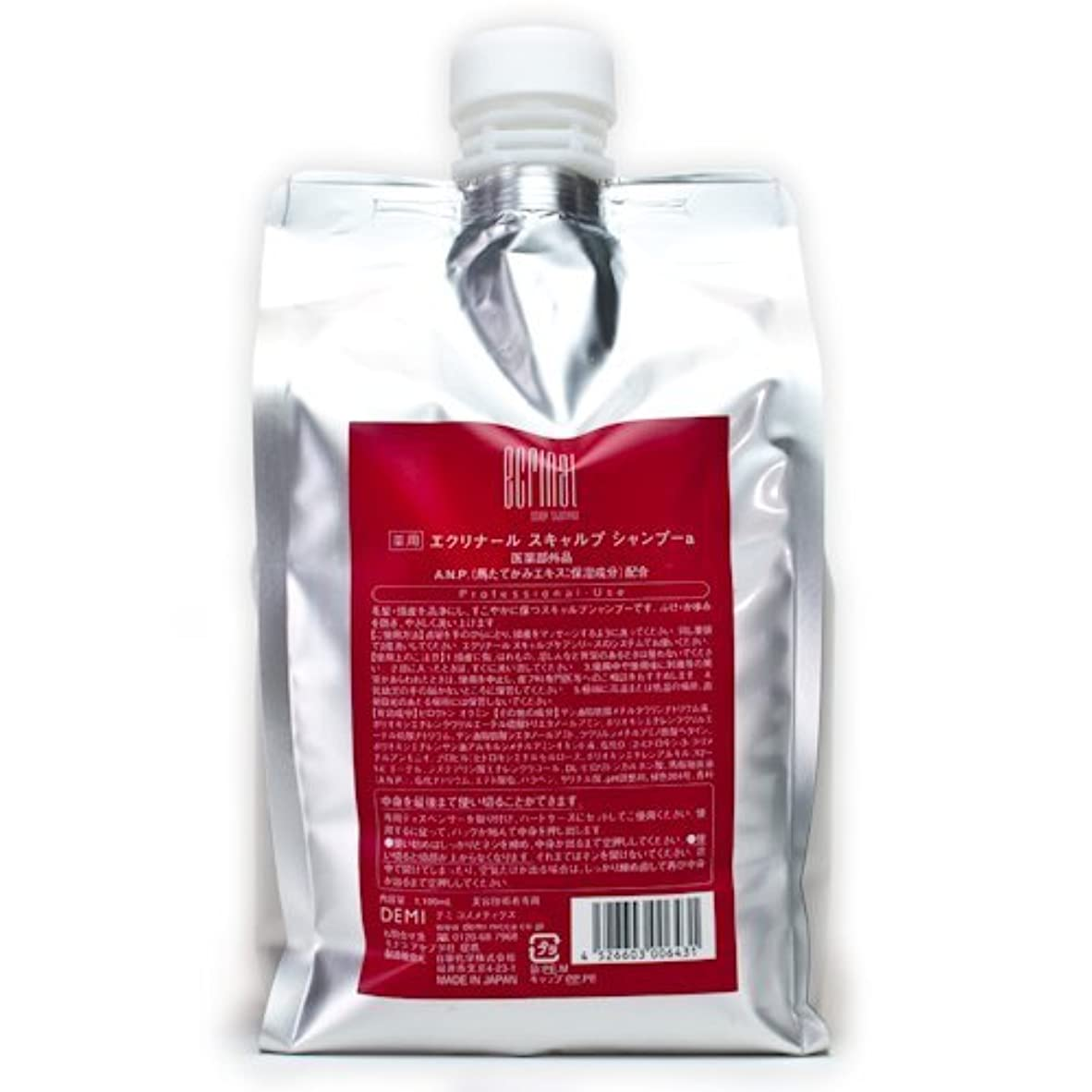 小麦おそらく安らぎデミコスメティクス エクリナール スキャルプシャンプー 1100ml (医薬部外品)