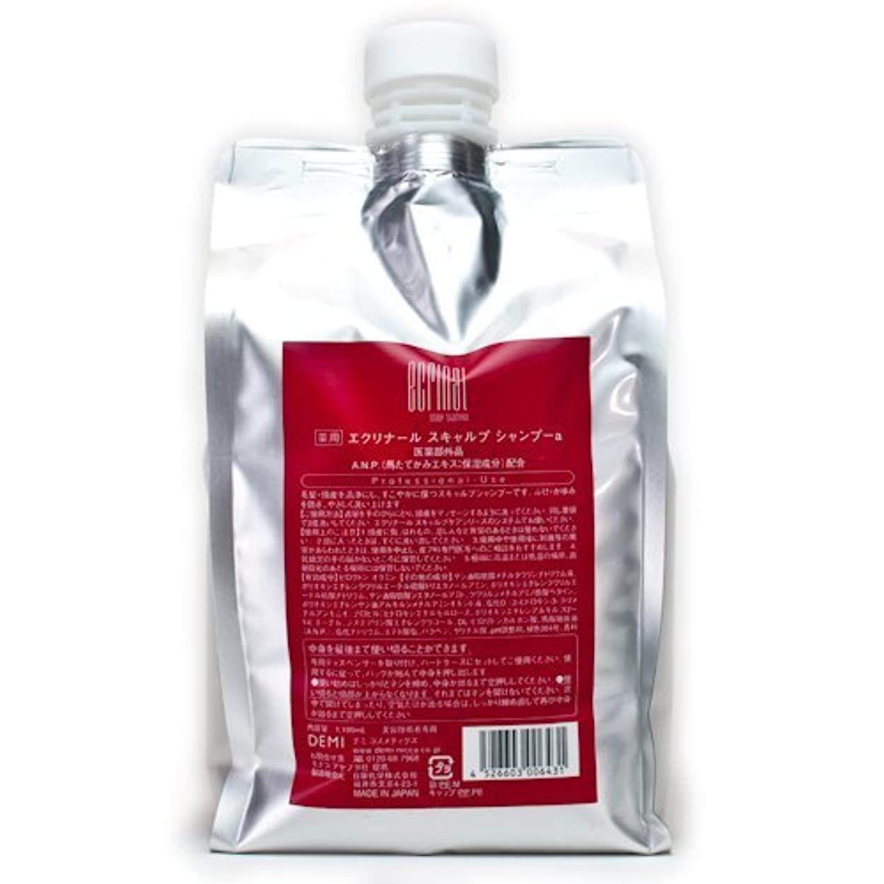 化学拡張分注するデミコスメティクス エクリナール スキャルプシャンプー 1100ml (医薬部外品)