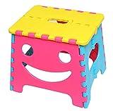 ユーカンパニー U-company ファニーフェイス ステップスツール ピンク コンパクトに持ち運び・収納が可能