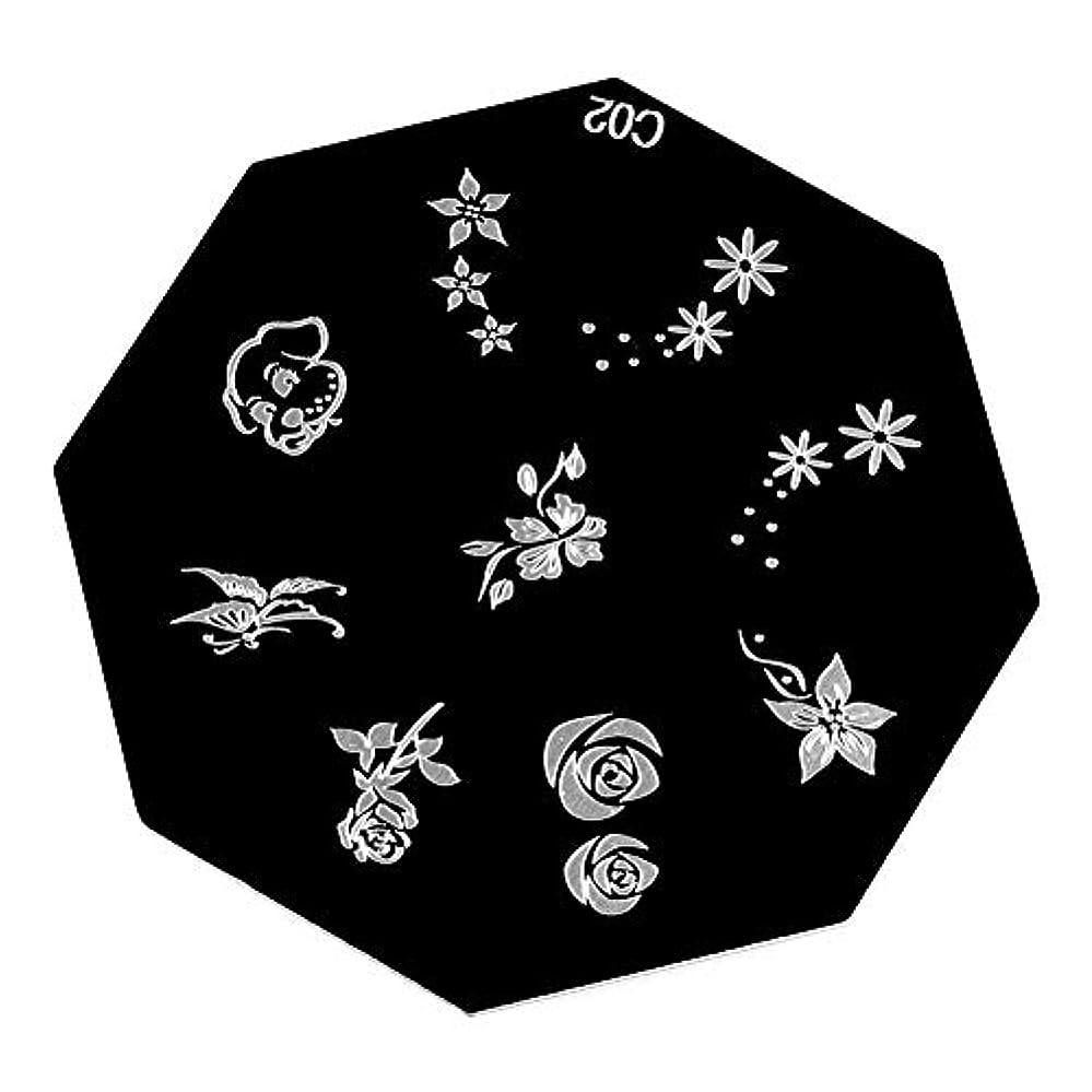 真珠のようなきらめき品種6タイプ ポータブル 高品質 ネイルアート スタンピングプレート DIYマニキュア印刷イメージテンプレート(06)