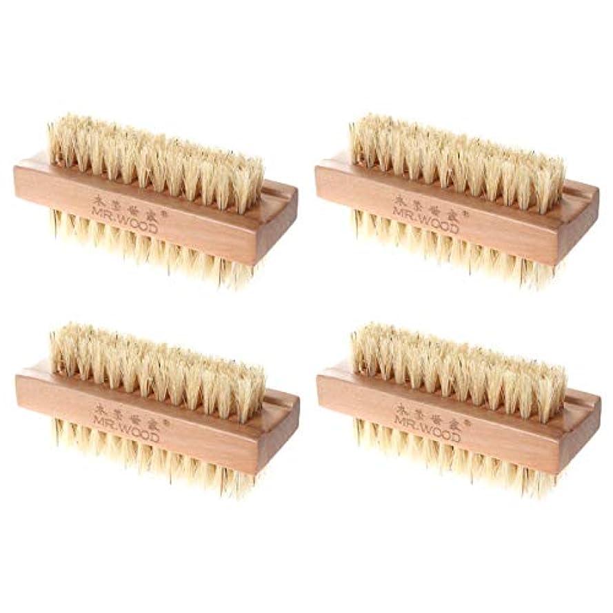 メンバーフィットコンパスHealifty ネイルブラシバスブラシ木製ブラシ4本