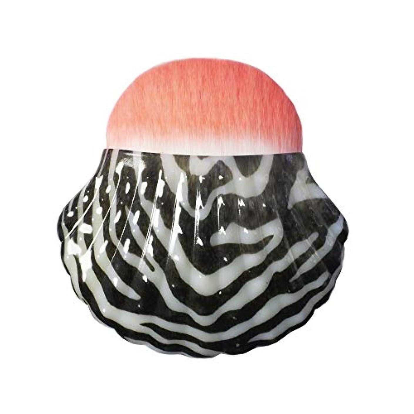 肘掛け椅子金属ピクニックMakeup brushes 黒と白のパターン、個々のシェルタイプブラッシュブラシ美容メイクブラシツールポータブル多機能メイクブラシ suits (Color : Leopard)