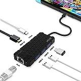 Nintendo Switch 6 in1 TYPE-C TO HDMI変換アダプター【 USB-Cポート、3つのUSB3.0ポート、4K HDMIポート、 1Gbpsイーサネットポート搭載】SAMSUNG S8、APPLE MACBOOK他対応、ニンテンドースイッチ ドックセットの代わり