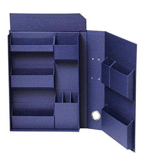 ナカバヤシ ライフスタイルツール 小物入れ 収納ボックス ファイルA4 ネイビー LST-FA4NV