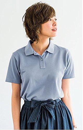 (セシール)cecile レディスポロシャツ(半袖) AA-419 888 クラウドブルー L