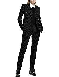 スーツ レディース パンツ セット ストライプ リクルート フォーマル 卒業式 テーラードジャケット おしゃれ