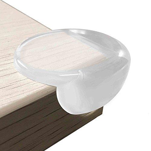 HOMYSNUG コーナークッション ソフト コーナーガード 大きサイズ 赤ちゃんとご年配の方のケガ防止 テーブルや戸棚などの家具のエッジを保護して 粘着力が抜群 両面テープ付き 12個 セット (L)