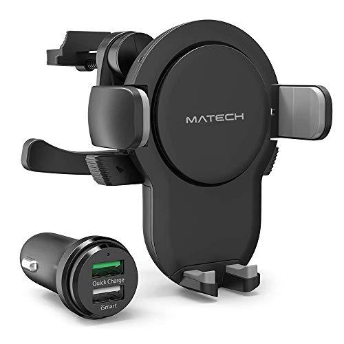 MATECH Qi 車載ホルダー DriveSmart 2nd Edition (5W / 7.5W / 10W) 車載ワイヤレス充電器 吹き出し装着式 ...