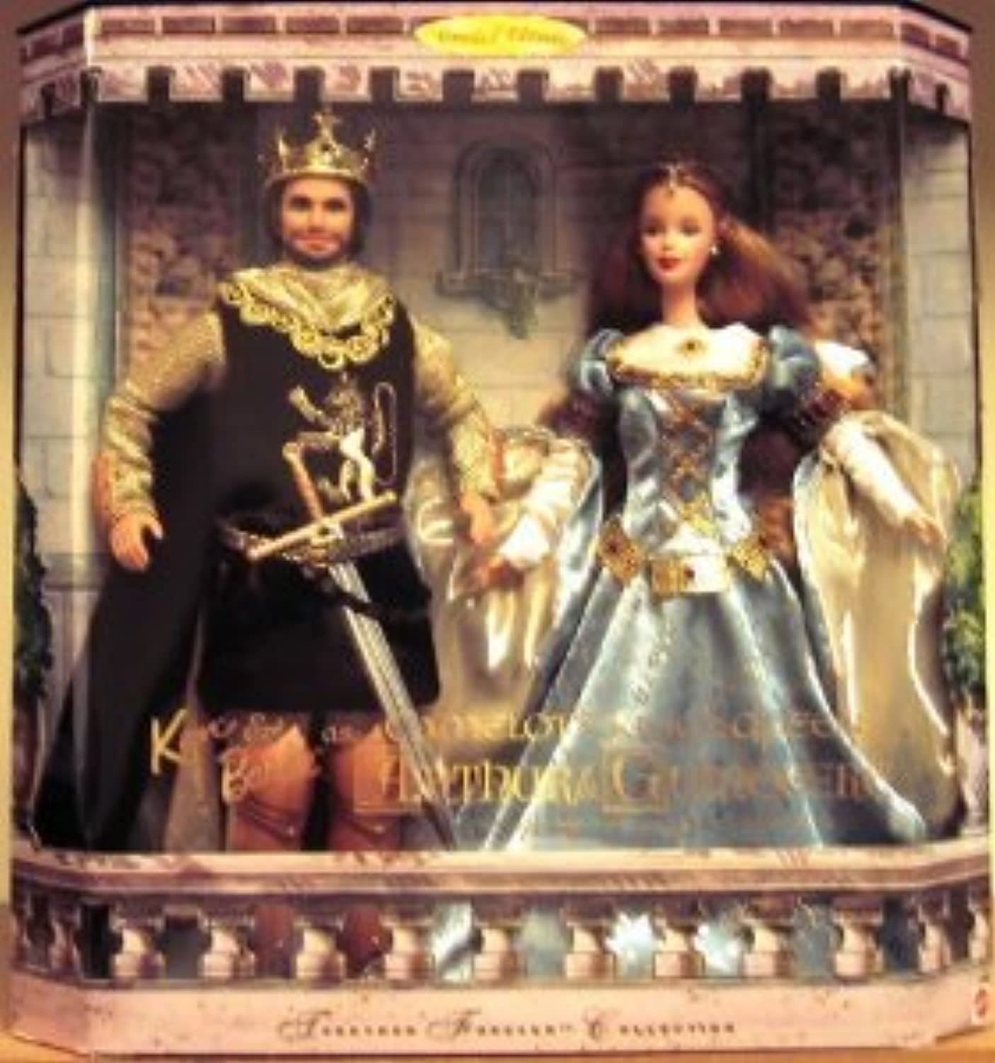Ken and Barbie(バービー) Doll As Camelot's King & Queen, Arthur and Guinevere ドール 人形 フィギュア(並行輸入)