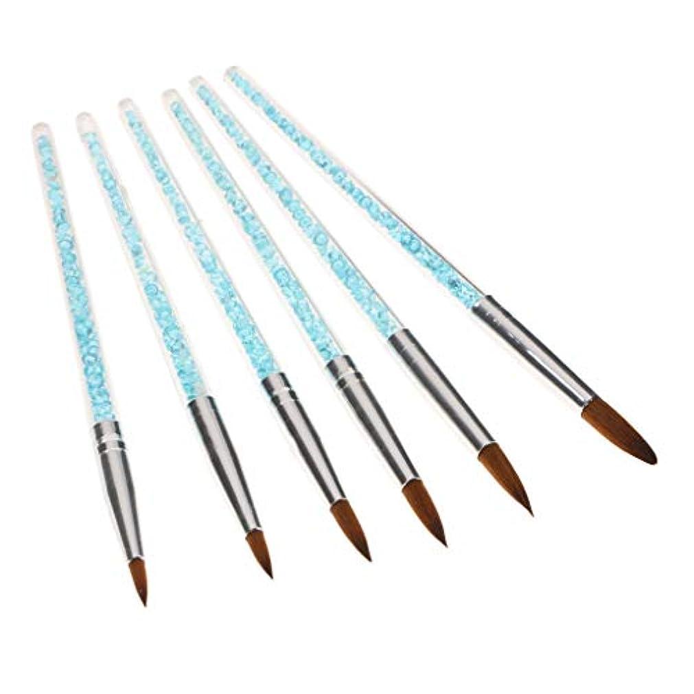 不明瞭週間口述DYNWAVE 6個 ネイルアートブラシ ネールアートペン マニキュアツールキット ネイルツール ネイル用品