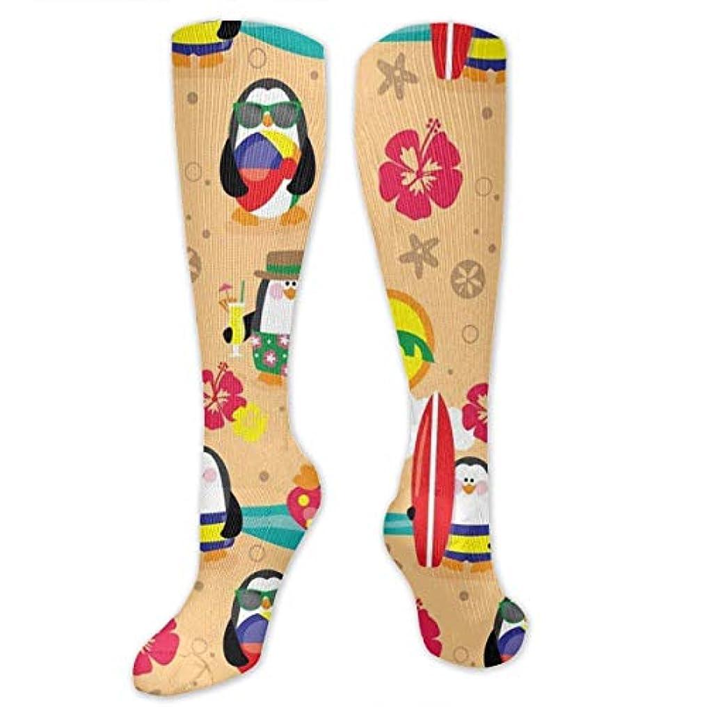贅沢ないいね光沢靴下,ストッキング,野生のジョーカー,実際,秋の本質,冬必須,サマーウェア&RBXAA Penguins in Paradise Socks Women's Winter Cotton Long Tube Socks Knee...