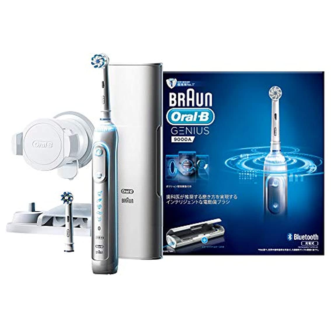 ソース慢りブラウン オーラルB 電動歯ブラシ ジーニアス9000 ホワイト D7015256XCTWH