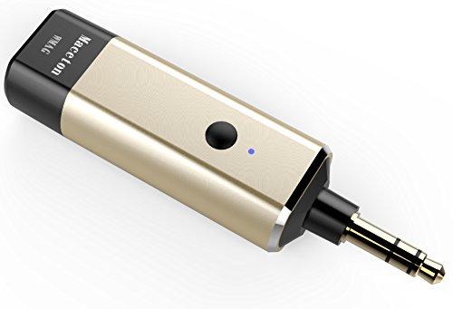 Maceton WMAG 高音質ワイヤレスオーディオ発信機 送信機 Bluetoothトランスミッター【レシーバー/受信機機能ない】 3.5mmオーディオジャックに対応(プレイヤー、メディア、ゲーム機、電子楽器、TV、iPod、MP3/MP4/CD/DVDプレイヤーなどBluetooth発信機能ない機器に適用)3.5mmメスジャック→2RCAプラグケーブル付属(RCA音源出力機器用)アメリカCSR Bluetooth発信IC採用