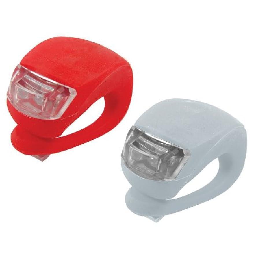 力強い汗ねばねば自転車用ライト計2個セット (シリコンライト赤&白2個) フロントライ ト(サイクルライト LED LIGHT) 生活防水