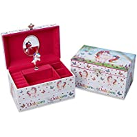 Lucy Locket Magical Unicorn Musical Jewellery Box for Children - Pink Glittery Jewellery Box for Girls and Boys with Ring Holder