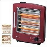 ユーイング 電気ストーブ 3灯石英管ヒーター 900W UV塗装仕上げ US-QSP900J-R 単品 【1点】