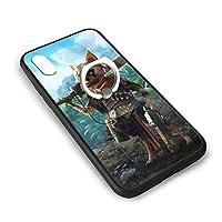 バイオミュータント モンスターエナジー IPhoneX XS スマホケース TPUバンパー+背面ガラス レンズ保護 Iphoneケース リング付き ワイヤレス充電対応 滑り防止 黄変防止 すり傷防止 超軽量高耐久アイフォンX/XS スマホケース